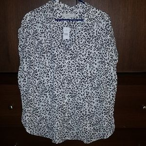 Loft animal print blouse in size L